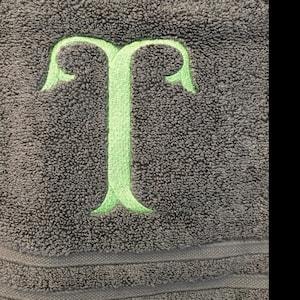 Large Fish Tail Machine Embroidery Font Monogram Alphabet - 3 Sizes photo