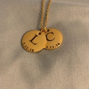 Personalized necklace for Women Personalized Jewelry Engraved Necklace Custom Necklace Initial Necklace with Initials - LCN-ID-L-TNR photo