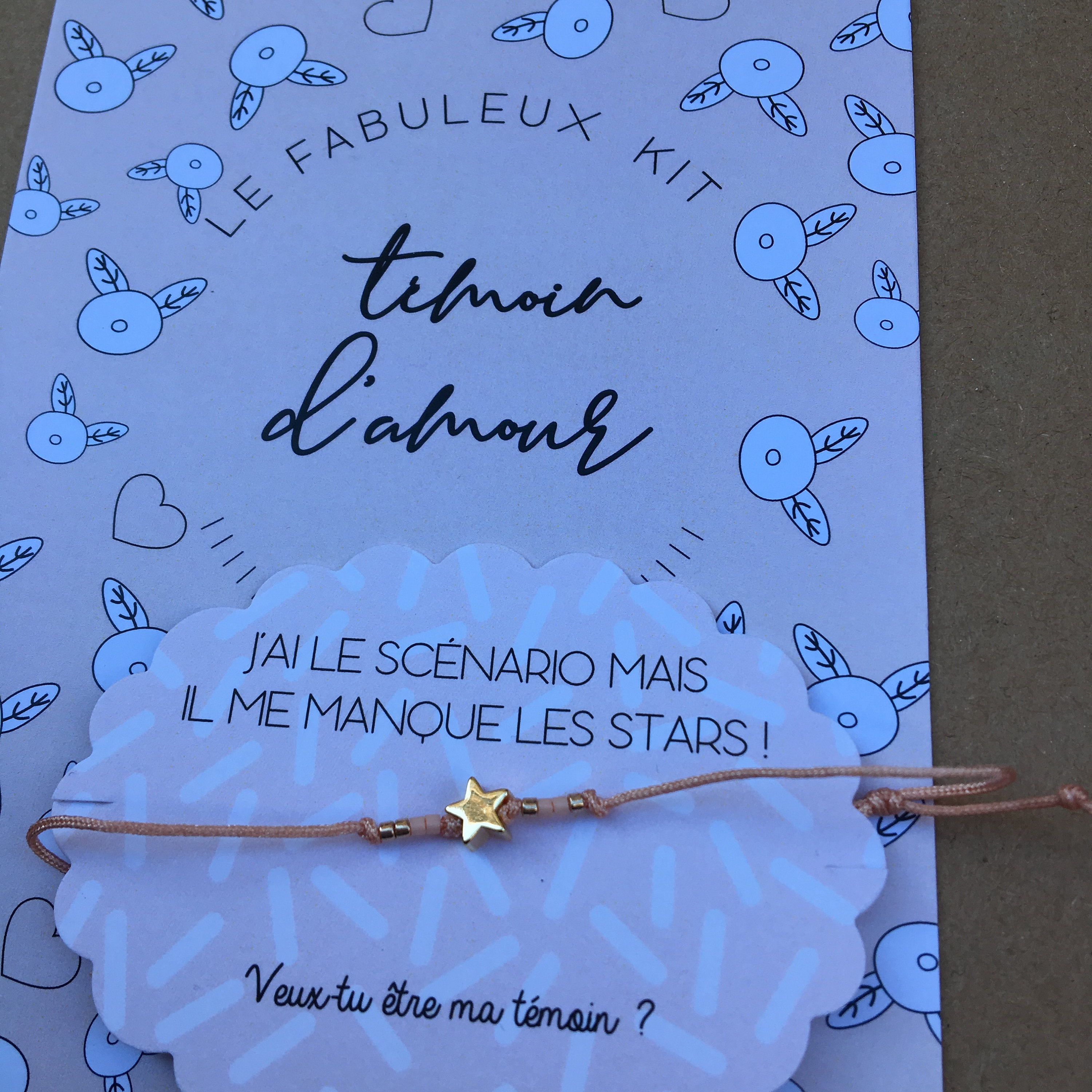 Wedding Witness Gifts: Bracelet Asks For Star Wedding Witness, Do You Want To Be