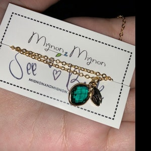 August Birthstone Necklace for Mom Personalized Gift for Mom Mother in Law Gift Birthday Gift Initial Necklace Handmade Jewelry -BSON-L-D photo