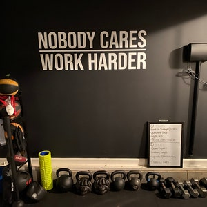 home gym ideas wall decal pain is weakness leaving the