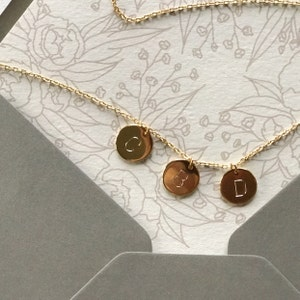 Initial Necklace Gold Personalized Necklace For Mom Gift Mothers Day Gifts for Best Friend Female Circle Name Necklace - CN photo