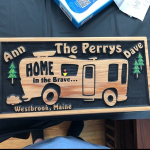 Personalized RV Sign Camping Home is Where You Park