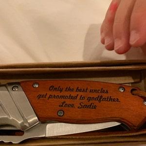 Godfather Proposal Confirmation Gifts Personalized Engraved Godfather Knife Godfather Gift Confirmation Sponsor Gift Baptism Gift