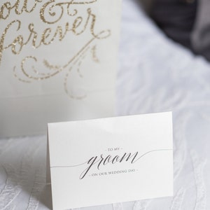 Wedding Card to Your Bride or Groom on Your (Our) Wedding Day - Love Note to Future Husband or Wife Card Keepsake Love Note Before I Do CS13 photo