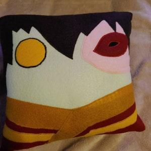 Dragon pillow anime film inspired doll