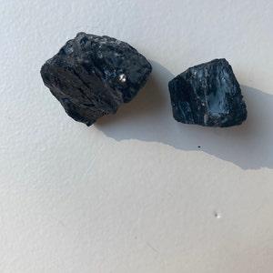 "Raw Black Tourmaline Stone (.5"" - 1"") - black tourmaline crystal - black tourmaline raw - raw black tourmaline - Black tourmaline cluster photo"