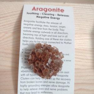 "Aragonite star cluster (1"" - 3"") - raw cluster - healing crystals - brown aragonite cluster - raw aragonite cluster geode - crystal cluster photo"