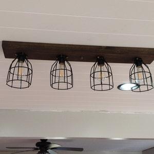 Farmhouse wood kitchen light fixture rustic flush mount ceiling light farmhouse decor