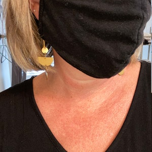 Face Mask with Nose Wire, Filter Pocket, 4 Layer Cool Cotton for Adult, Reusable Washable, Made in USA by Tough Cookie photo