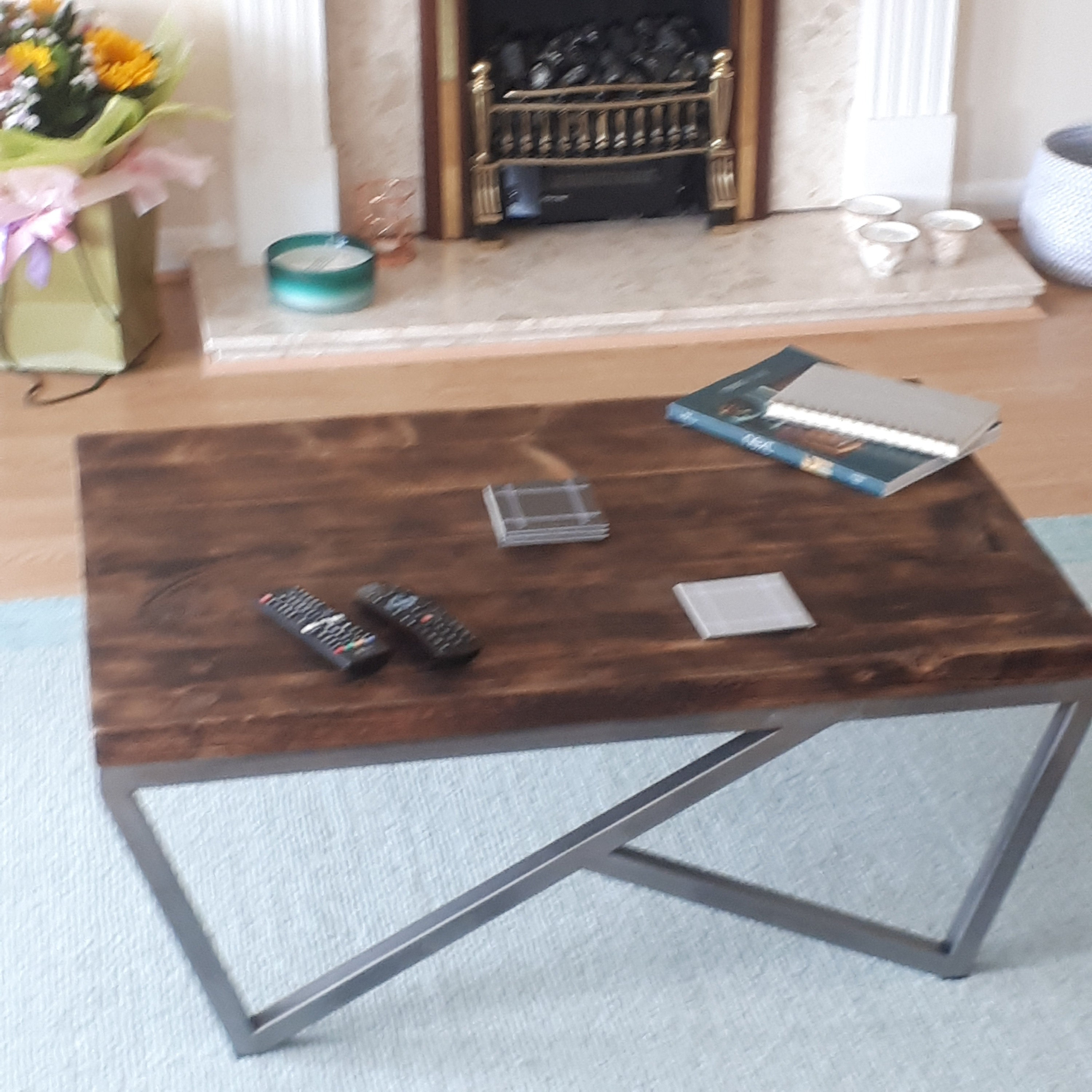 Industrial dining table with chairs