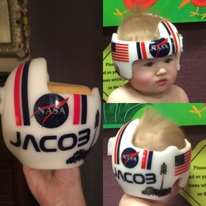Space Inspired Personalized Cranial Band Astronaut Design  e10e31203b4a