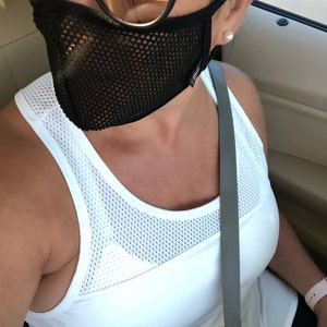 COOLING MESH for Adults & Kids Washable Cotton-Lined Face Mask, Single or Double Layers, Made in USA, Fast Shipping photo