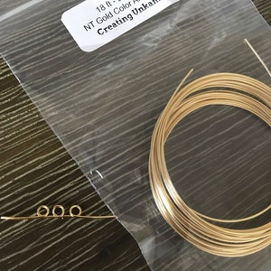 Non Tarnish Gold Color Artistic Wire - You Pick Gauge 10, 12, 14, 16, 18, 20, 22, 24, 26, 28, 30, 32 – 100% Guarantee photo