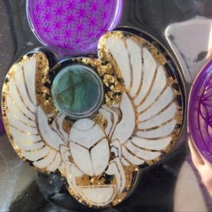 Flexible Soap Resin Mold Egyptian Scarab  Sun God Khepri Orgone Orgonite Mould