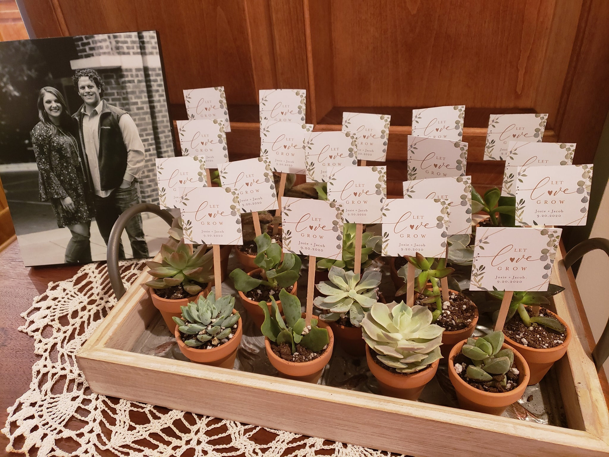 Let Love Grow Tag Template Greenery Wedding Favor Tag Bridal Shower Favor Tag Baby Shower Tag 100 Editable Plant Favor 056 132sf