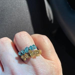Natural Apatite Chip Beads Strand, Semi Precious, Gemstone Chips, Gemstone Beads, Jewelry Making Supply, GemMartUSA (CHAP-70001) photo