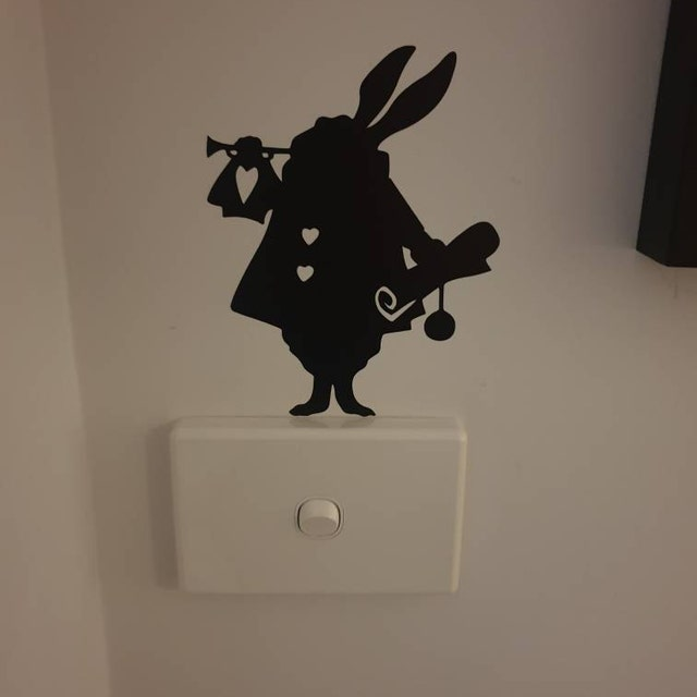 white rabbit light switch sticker