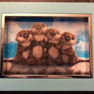 3200fff3f7 Finding dory otters print nursery art animal otter painting | Etsy