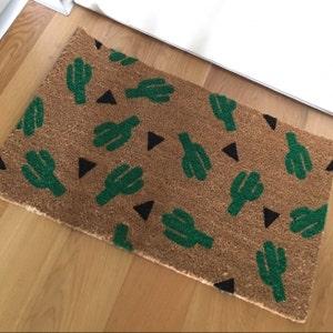 Cactus Doormat Doormat Welcome Mat Housewarming