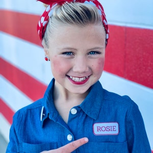 Rosie the Riveter bandana Healthcare Worker  Essential Worker pin and patch