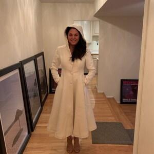 pink wool coat, women coat, maxi coat, winter coat, coat dress, hooded coat, wool coat, ruffle coat, warm coat, maxi wool coat 0727#