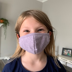 Kids Face Mask with Nose Wire Filter Pocket Adjustable 3D Cotton Triblend Washable Reusable | Made in USA Tough Cookie Clothing photo