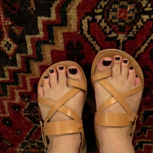 0ecf9e7fff52e2 Handmade Roman Grecian leather sandals w tracking sole