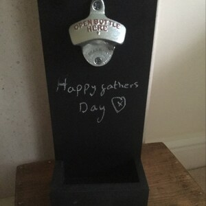 Chalkboard Wall Mounted Bottle Openers With Cap Catcher Etsy
