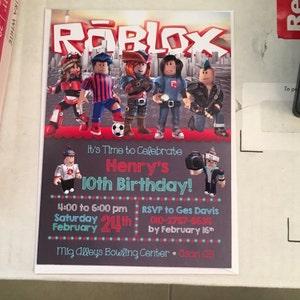 Roblox Happy Birthday Banner Chalkboard Roblox Birthday | Etsy