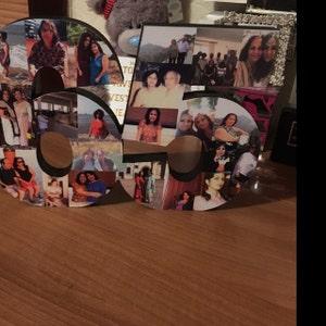 40 cm foto collage buchstaben oder zahl foto collage etsy. Black Bedroom Furniture Sets. Home Design Ideas
