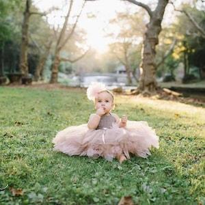 Double Layered Puffy Tutu Dress Flower Girl Tulle Dress