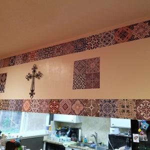 portugiesische fliesen patterns fliesenaufkleber k che etsy. Black Bedroom Furniture Sets. Home Design Ideas
