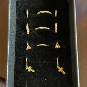 Cable Hoop Earrings • dainty hoops • huggie hoop earrings • hoop earrings • tiny hoops • thin hoops • minimalist earrings • delicate earring photo