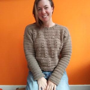 8f1241080f34 Crochet Sweater Pattern PDF - Rye Bread Sweater - crochet crew neck  pullover pattern in English