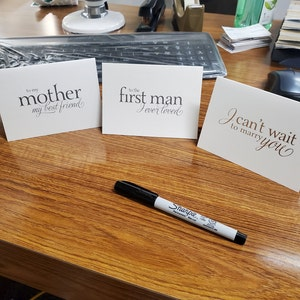 Wedding Card to Your Dad - Father of the Bride Cards -To the First Man I Ever Loved - Card from Daughter to go w/ Father of Bride Gift CS08 photo