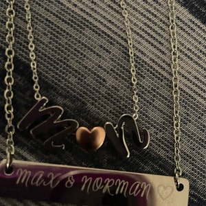 Personalized Bar Necklace for Mom Personalized Jewelry Gold Name Necklace for Women Gift Name Jewelry Gift Ideas Coordinate Necklace - 4N photo