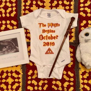 The Magic Begins HP Onesie {Free Shipping}