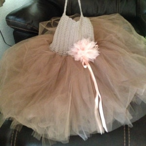 Double Layered Puffy Tutu Dress Flower Girl Tulle Dress