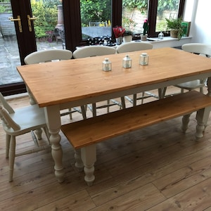 6ft Farmhouse Table Set