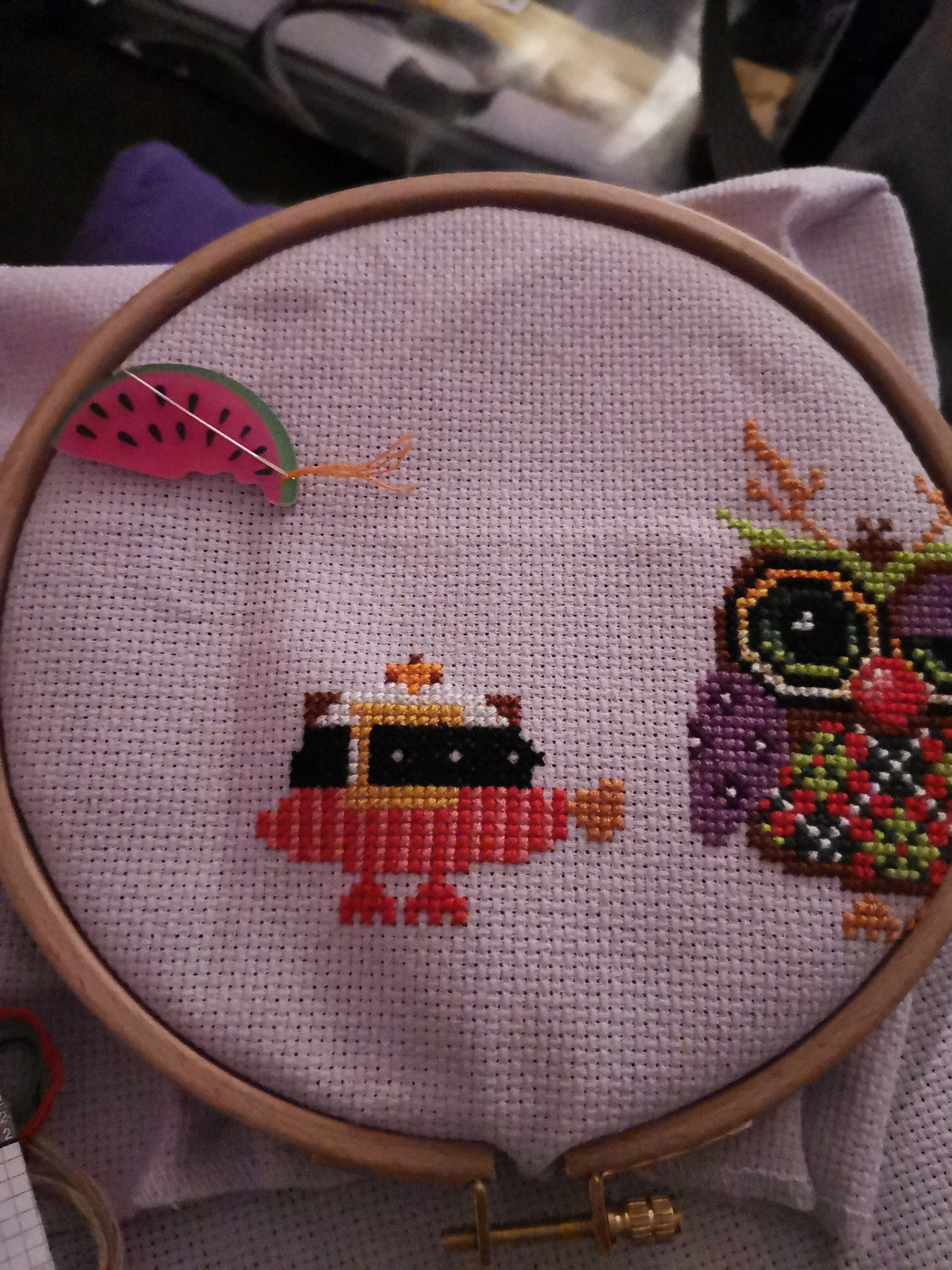 Lola the Ladybird Needle Minder For Cross Stitch// Embroidery