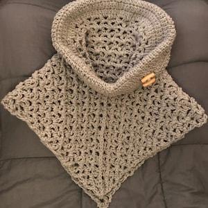 Crochet Pattern Cowl Neck Poncho Womens Poncho Etsy