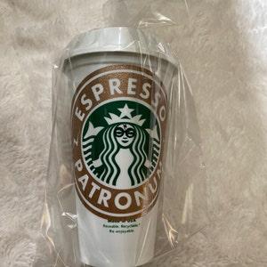 Custom Starbucks Cup Espresso Patronum Custom Tumbler Potterhead Mother\u2019s Day gift gift for her Harry Potter Starbucks Cup