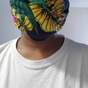 Adult Face Mask with Filter Pocket | 4 Layers Pleated Cotton Blend  | Washable Breathable | Made in USA by ToughCookieClothing photo