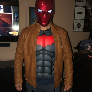 Red Hood Chest Breastplate Torso Cosplay DC Batman Handmade Fanmade Halloween Co