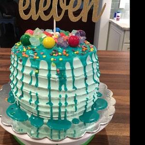CAD Violet Gâteau d/'anniversaire TOP//Topper//tout Âge 18th//21st//30th//40th// 50th// 60th