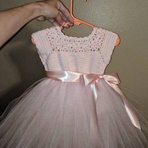 Crochet Tutu Dress Pattern Tutu Dress Pattern Crochet Yoke Etsy