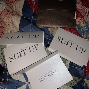 Time to Suit Up - Will You Be My Groomsman Card, Best Man, Usher, Ring Bearer, Man of Honor - Fun Wedding Cards for Groom to Ask Groomsmen photo