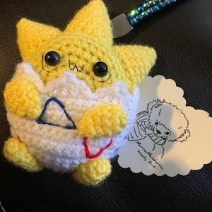 Vuntage Tamagotchi p1p2 Angelgotchi crochet angel cases by MarinaMandarina can fit all similar size tamagotchies