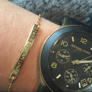 Personalized Bar Bracelet For Women Gold Bar Personalized Jewelry Friendship Custom Bracelet Women Engraved Bracelet Bridesmaid Proposal 2Br photo